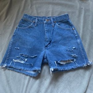 Wrangler denim cutoffs